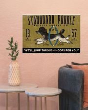 standard poodle agility supply 24x16 Poster poster-landscape-24x16-lifestyle-22