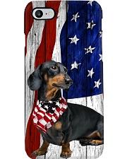 Dachshund Usa Flag Phone Case i-phone-8-case