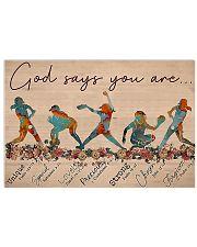 Softball - God Says You Are Horizontal Poster tile