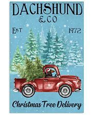 Dachshund Red Long Haired Christmas Tree Delivery 11x17 Poster front