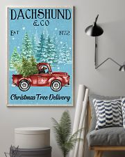 Dachshund Red Long Haired Christmas Tree Delivery 11x17 Poster lifestyle-poster-1