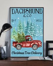 Dachshund Red Long Haired Christmas Tree Delivery 11x17 Poster lifestyle-poster-2