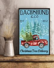 Dachshund Red Long Haired Christmas Tree Delivery 11x17 Poster lifestyle-poster-3