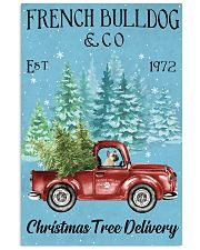 French Bulldog Christmas Tree Delivery 11x17 Poster front