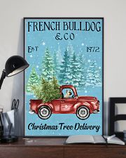 French Bulldog Christmas Tree Delivery 11x17 Poster lifestyle-poster-2