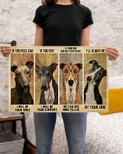 greyhound alway be by your side 24x16 Poster poster-landscape-24x16-lifestyle-20