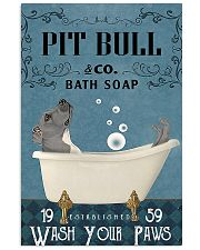 pitbull and bath soap poster 11x17 Poster front