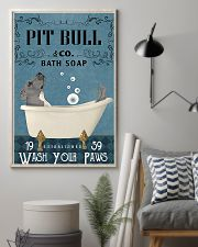 pitbull and bath soap poster 11x17 Poster lifestyle-poster-1