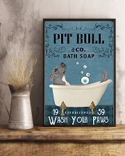 pitbull and bath soap poster 11x17 Poster lifestyle-poster-3