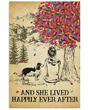 Spaniel She Lived Happily 11x17 Poster front