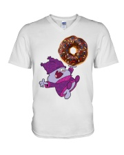 Chowder and The Giant Donut V-Neck T-Shirt thumbnail