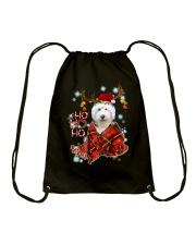 I Love Old English Sheepdog Drawstring Bag thumbnail