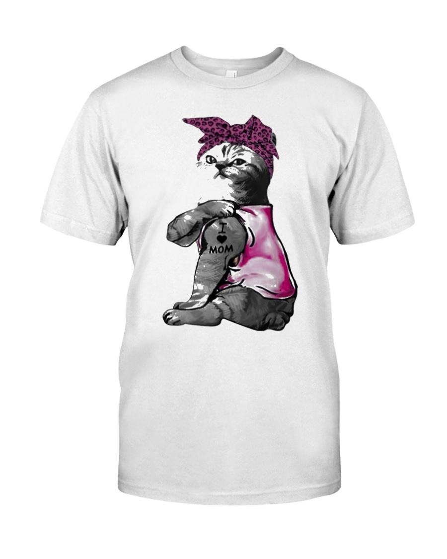 Cat I Love Mom Classic T-Shirt
