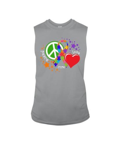 Peace Love Cure Autism Awareness T-Shirt