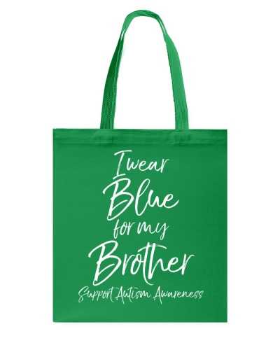 I Wear Blue for My Brother Shirt Support Autism