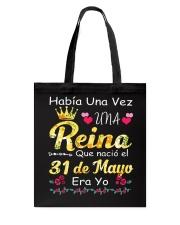 Reina 30 de Mayo Tote Bag front