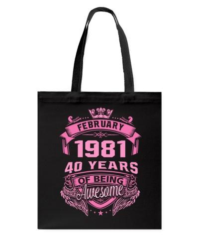 Awesome February 1981 WM Back