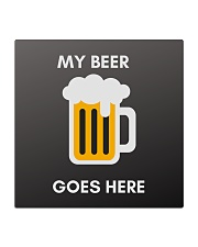 Funny My Beer Goes Here Coasters Square Coaster thumbnail