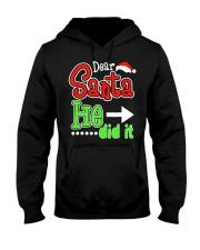 Dear Santa He Did It Santas Naughty List Christmas Hooded Sweatshirt thumbnail