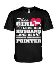 German Wirehaired Pointer MenX27S Pr 3 V-Neck T-Shirt thumbnail
