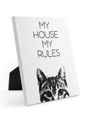 My house my rules Easel-Back Gallery Wrapped Canvas tile