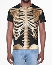 Human body skeleton bones Tshirt All-over T-Shirt aos-all-over-T-shirt-lifestyle-front-02