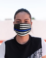 The Thin Blue Line American flag  Cloth face mask aos-face-mask-lifestyle-03
