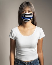 The Thin Blue Line American flag  Cloth face mask aos-face-mask-lifestyle-15