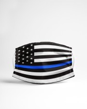 The Thin Blue Line American flag  Cloth face mask aos-face-mask-lifestyle-22