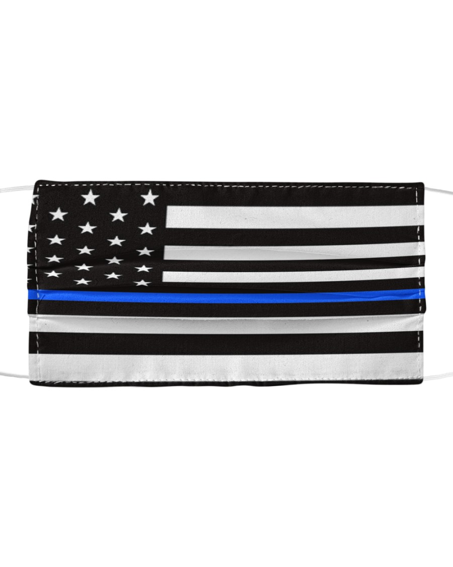The Thin Blue Line American flag  Cloth face mask