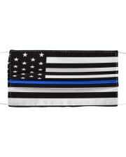 The Thin Blue Line American flag  Cloth face mask front