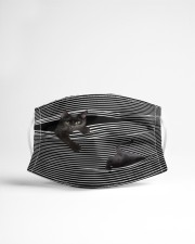 Black Cat Striped 3D Cloth face mask aos-face-mask-lifestyle-22