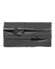 Black Cat Striped 3D Cloth face mask front