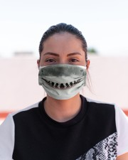 White Shark Mouth 3D  Cloth face mask aos-face-mask-lifestyle-03