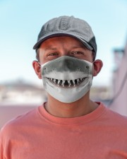 White Shark Mouth 3D  Cloth face mask aos-face-mask-lifestyle-06
