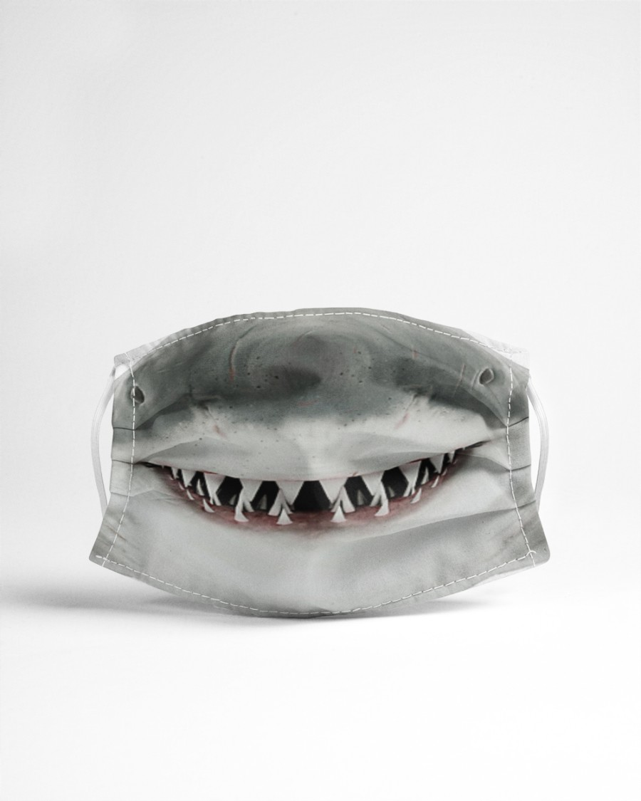 White Shark Mouth 3D  Cloth face mask