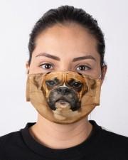 Brown Boxer Dog  Cloth face mask aos-face-mask-lifestyle-01