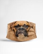 Brown Boxer Dog  Cloth face mask aos-face-mask-lifestyle-22