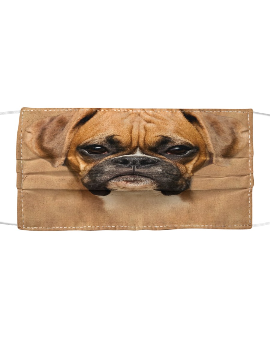 Brown Boxer Dog  Cloth face mask