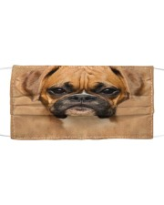 Brown Boxer Dog  Cloth face mask front