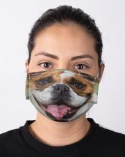 Cute Bulldog Dog  Cloth face mask aos-face-mask-lifestyle-01