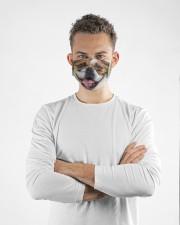 Cute Bulldog Dog  Cloth face mask aos-face-mask-lifestyle-14