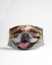 Cute Bulldog Dog  Cloth face mask aos-face-mask-lifestyle-22