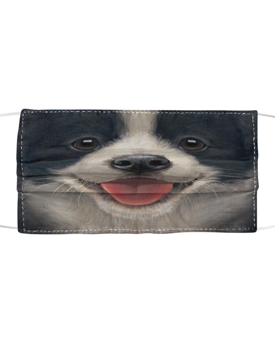 Border Collie  Cloth face mask