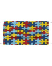Autism Awareness puzzle piece  Cloth face mask front