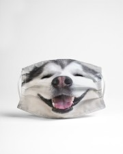 Cute Smiling Alaskan Malamute 3D  Cloth face mask aos-face-mask-lifestyle-22