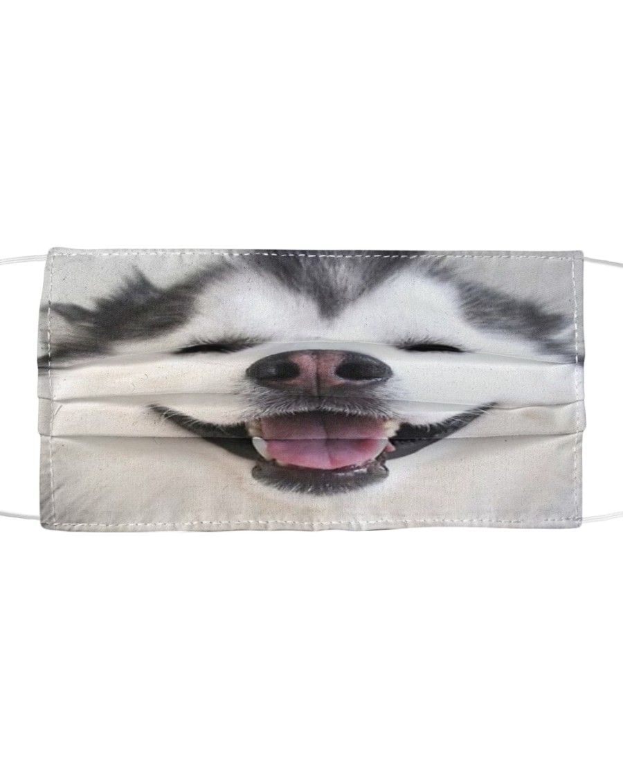 Cute Smiling Alaskan Malamute 3D  Cloth face mask