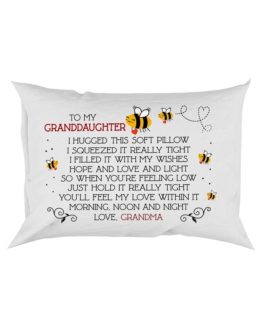 To my granddaughter I hugged this soft  Rectangular Pillowcase