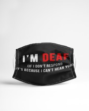 I'm deaf If I don't respond Cloth face mask aos-face-mask-lifestyle-22