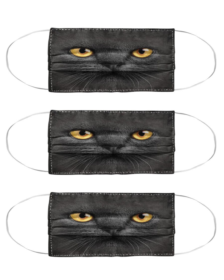 Black Cat Cloth Face Mask - 3 Pack